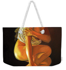 Weekender Tote Bag featuring the painting 9 30 Am by Thu Nguyen