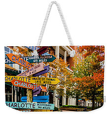 Charlotte City Skyline Autumn Season Weekender Tote Bag