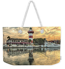 Lighthouse On Hilton Head Island Weekender Tote Bag by Peter Lakomy