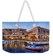 Molyvos Town In Lesvos Island Weekender Tote Bag