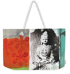 Namaste Weekender Tote Bag by Linda Woods