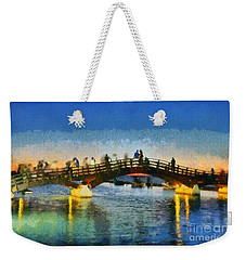 Sunset In Lefkada Town Weekender Tote Bag