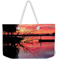 Weekender Tote Bag featuring the photograph Sunset 9 by Lisa Wooten