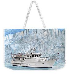 65 Foot World Cruising Yacht Weekender Tote Bag by Jack Pumphrey
