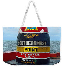 Southernmost Point Key West - 90 Miles To Cuba Weekender Tote Bag