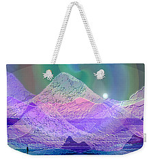 939 - Magic Mood  Mountain World Weekender Tote Bag by Irmgard Schoendorf Welch