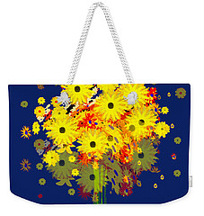 952 - Summer Flowers  Yellow ... Weekender Tote Bag by Irmgard Schoendorf Welch