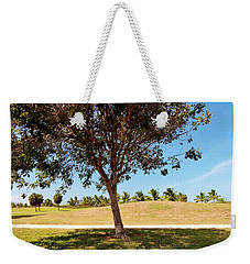 Weekender Tote Bag featuring the photograph 96 Degrees In Da Shade by Amar Sheow