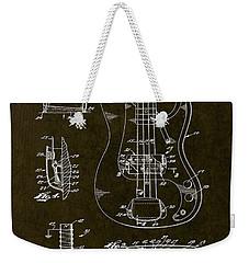 1961 Fender Bass Pickup Patent Art Weekender Tote Bag by Gary Bodnar