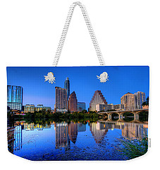Weekender Tote Bag featuring the photograph A Beautiful Austin Evening by Dave Files