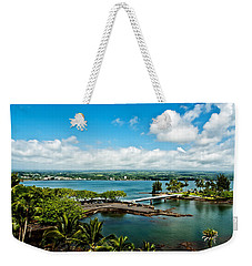 A Beautiful Day Over Hilo Bay Weekender Tote Bag by Christopher Holmes