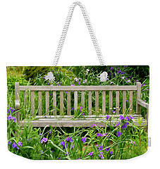 A Bench For The Flowers Weekender Tote Bag by Gary Slawsky