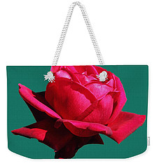Weekender Tote Bag featuring the photograph A Big Red Rose by Tom Janca