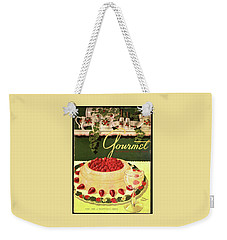 A Blancmange Ring With Strawberries Weekender Tote Bag