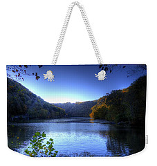A Blue Lake In The Woods Weekender Tote Bag by Jonny D