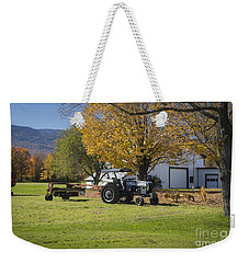 Weekender Tote Bag featuring the photograph A Break From Haying by Alana Ranney