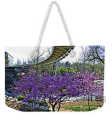 Weekender Tote Bag featuring the photograph A Bridge To Spring by Larry Bishop