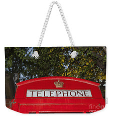 A British Phone Box Weekender Tote Bag