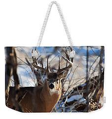 A Buck In The Bush Weekender Tote Bag