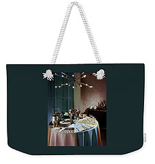A Buffet Table At A Party Weekender Tote Bag