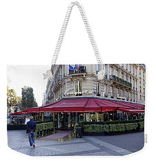 A Cafe On The Champs Elysees In Paris France Weekender Tote Bag