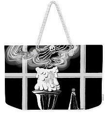 Weekender Tote Bag featuring the digital art A Candle Snuffed by Carol Jacobs
