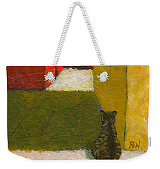 A Cat Waiting For Someone's Return Weekender Tote Bag