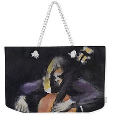 A Cellist Weekender Tote Bag by Yoshiko Mishina