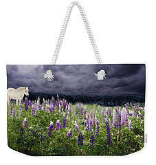 A Childs Dream Among Lupine Weekender Tote Bag