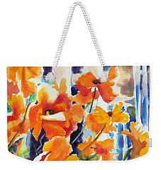 A Choir Of Poppies Weekender Tote Bag by Kathy Braud