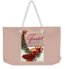 A Christmas Gourmet Cover Weekender Tote Bag