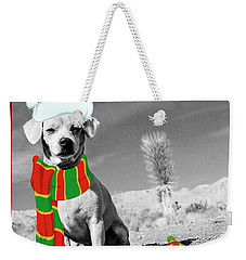 Weekender Tote Bag featuring the photograph A Christmas Princess by Angela J Wright