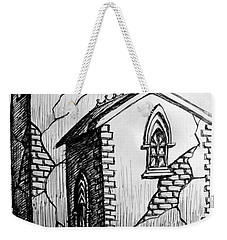 Weekender Tote Bag featuring the painting Old Church by Salman Ravish