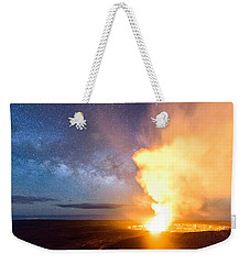 A Cosmic Fire Weekender Tote Bag