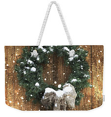 A Country Christmas Weekender Tote Bag by Benanne Stiens