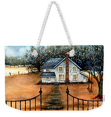 A Country Home Weekender Tote Bag by Janine Riley