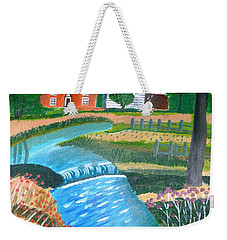 A Country Stream Weekender Tote Bag