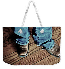 A Cowgirl Weekender Tote Bag by Chris Berry