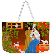 Weekender Tote Bag featuring the digital art A Cradle In Bethlehem by Latha Gokuldas Panicker
