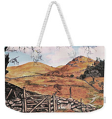Weekender Tote Bag featuring the painting A Day In The Country by Sophia Schmierer