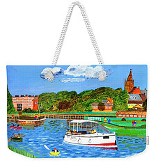 A Day On The River Weekender Tote Bag