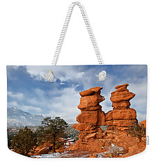 A December Morning Weekender Tote Bag by Ronda Kimbrow