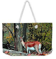 A Deer Look Weekender Tote Bag by Lydia Holly