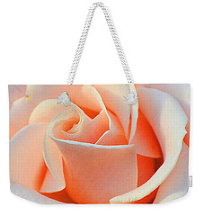 A Delicate Rose Weekender Tote Bag by Cindy Manero