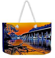 A Delta Sunset  Weekender Tote Bag