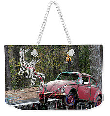 Weekender Tote Bag featuring the photograph A Difference Sleigh  by Donna Brown
