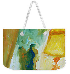 A Door A Chair And A Yellow Lamp Weekender Tote Bag