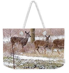 A Dusting On The Deer Weekender Tote Bag