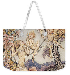 A Fairy Song From A Midsummer Nights Dream Weekender Tote Bag by Arthur Rackham