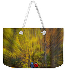 A Fall Stroll Taughannock Weekender Tote Bag by Jerry Fornarotto